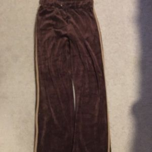 Pants - Brown velvet track pants